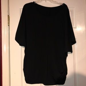 Tops - Black bat wing cold shoulder top